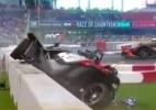 Substituto de Nasr na F-1 capota em duelo com Massa na Corrida dos Campeões - Reprodução
