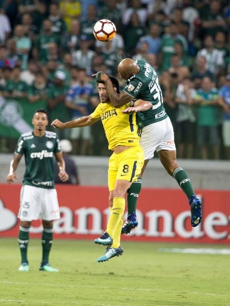 Imagem do confronto entre Palmeiras e Boca Juniors pela Libertadores - Rubens Cavallari