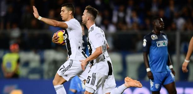 Craque português foi o nome da partida em Empoli  - Marco Bertorello/AFP