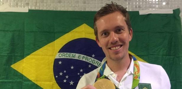 Bebeto Sauthier foi campeão olímpico com a seleção brasileira em 2016 - Divulgação/Criciúma