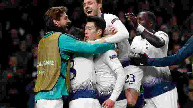 Son comemora Tottenham - Ian Kington/AFP - Ian Kington/AFP