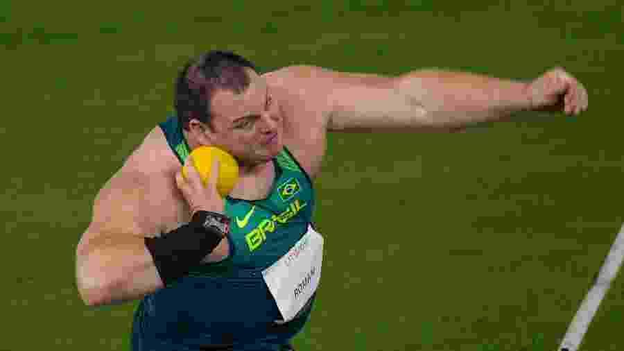 Darlan Romani na prova do arremesso de peso do Pan-2019, em Lima - Washington Alves/COB