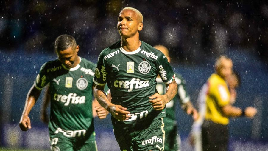 Deyverson comemora gol marcado pelo Palmeiras na temporada 2019 - EDUARDO VALENTE/FRAMEPHOTO