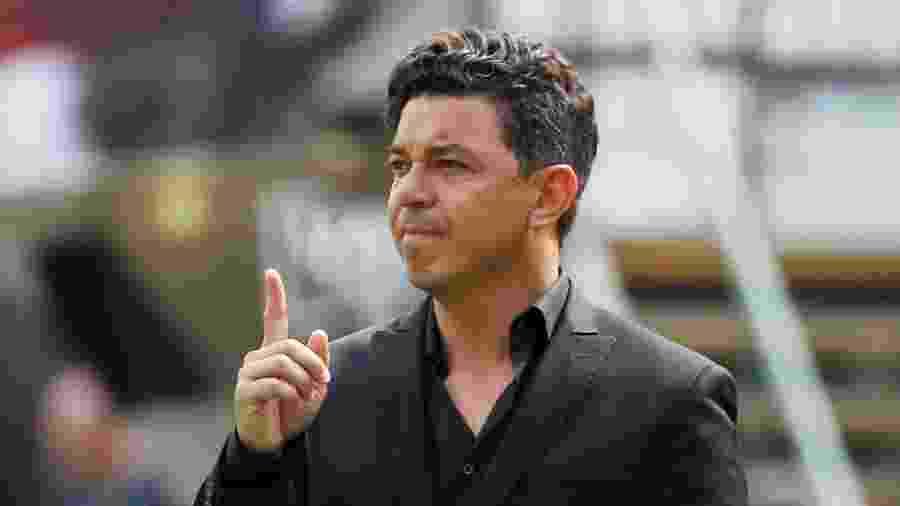 Marcelo Gallardo, durante final da Libertadores entre Flamengo e River Plate - REUTERS/Pilar Olivares