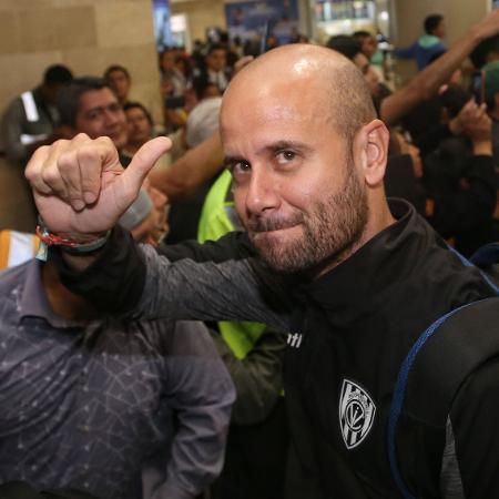 Miguel Ángel Ramírez, preferido do Palmeiras, durante coletiva de imprensa - Cristina Vega Rhor/AFP