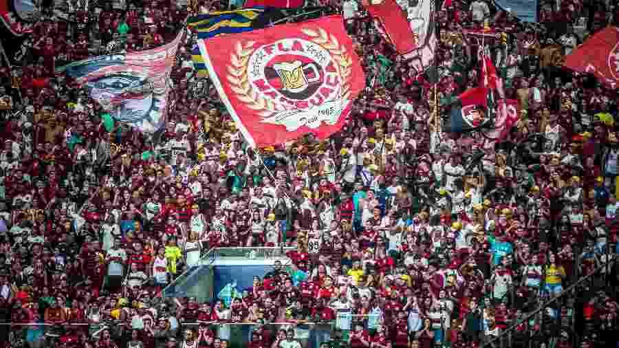 Torcida do Flamengo na partida contra o Macaé, na estreia no Campeonato Carioca - Alexandre Vidal / Flamengo