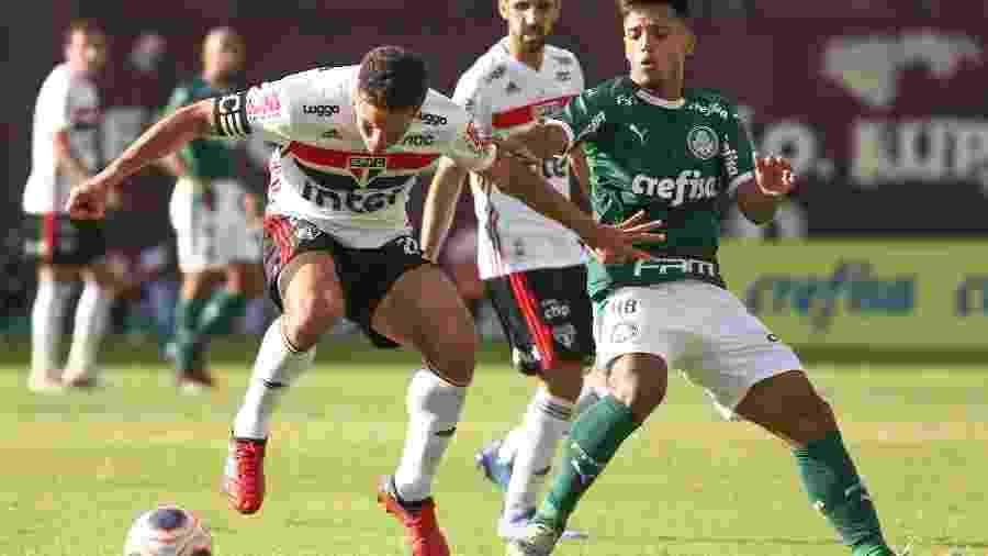 Partida entre Palmeiras e São Paulo, durante o Campeonato Paulista - Marcello Zambrana/AGIF