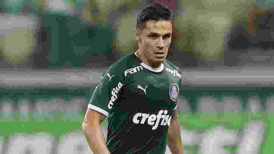 Raphael Veiga atuou como titular do Palmeiras no confronto diante do Guarani - Cesar Greco/Ag. palmeiras