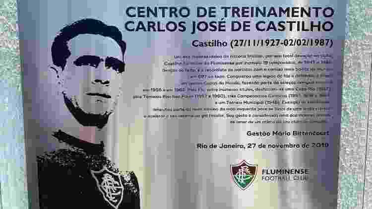 Fluminense inaugura placa com novo nome do CT: Carlos José Castilho - Caio Blois / UOL Esporte - Caio Blois / UOL Esporte