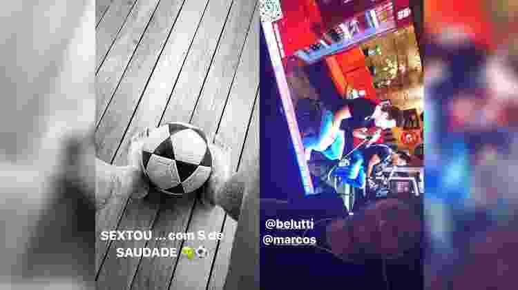 Neymar curte Marcos e Belutti em sexta-feira com 'S de saudade' do futebol - reprodução/Instagram - reprodução/Instagram
