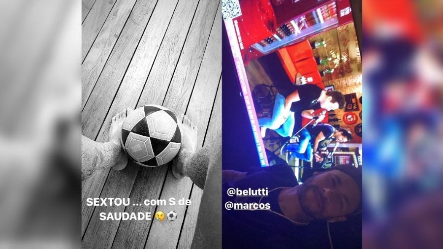 """Neymar curte Marcos e Belutti em sexta-feira com """"S de saudade"""" do futebol - reprodução/Instagram"""