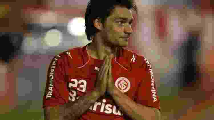 Rafael Sóbis comemora o gol do Inter contra o Chivas na final da Libertadores - Nabor Goulart/Freelancer - Nabor Goulart/Freelancer