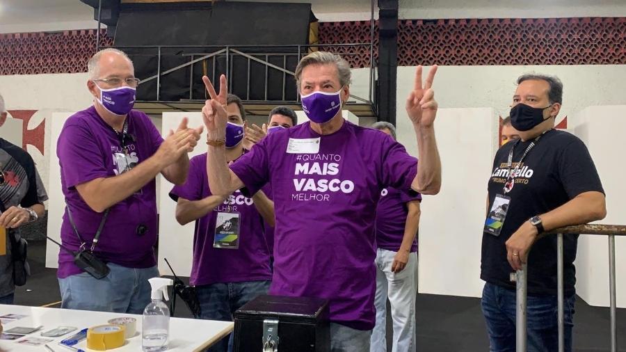 Candidado Jorge Salgado, da chapa Mais Vasco, vota na eleição em São Januário - Divulgação