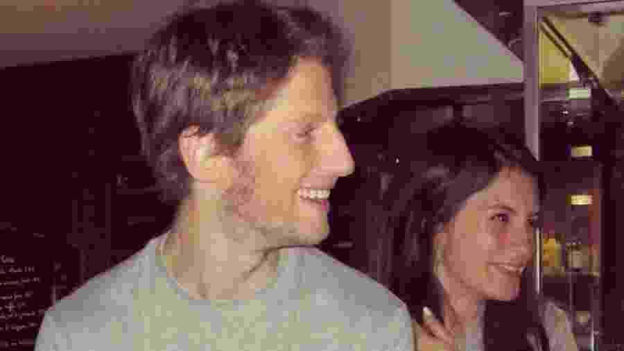 O piloto Romain Grosjean ao lado da mulher Marion - Reprodução/Instagram
