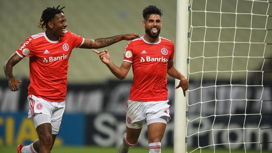 """Yuri Alberto (d) é goleador da """"era Abel Braga"""" no Inter e contribui para força ofensiva - Ricardo Duarte/Inter"""