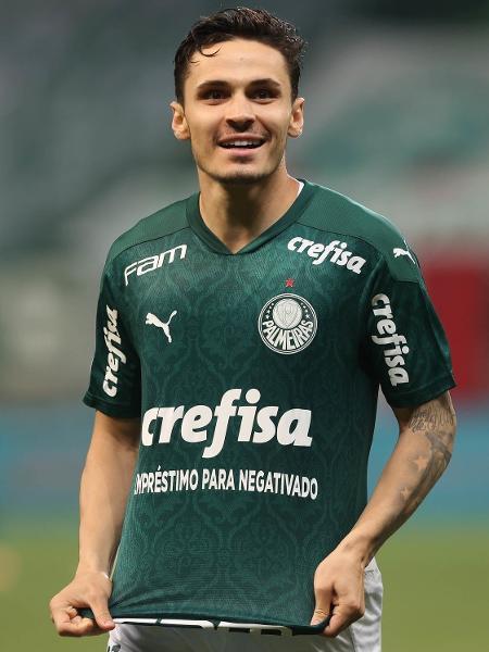 A camisa do Palmeiras teve uma ação no Dérbi para divulgar o empréstimo para negativados - Cesar Greco