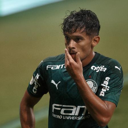 Gustavo Scarpa, do Palmeiras, fez o gol contra o Defensa y Justicia - Ettore Chiereguini/AGIF
