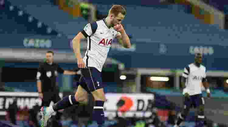 Harry Kane comemora gol pelo Tottenham - CLIVE BRUNSKILL/AFP - CLIVE BRUNSKILL/AFP