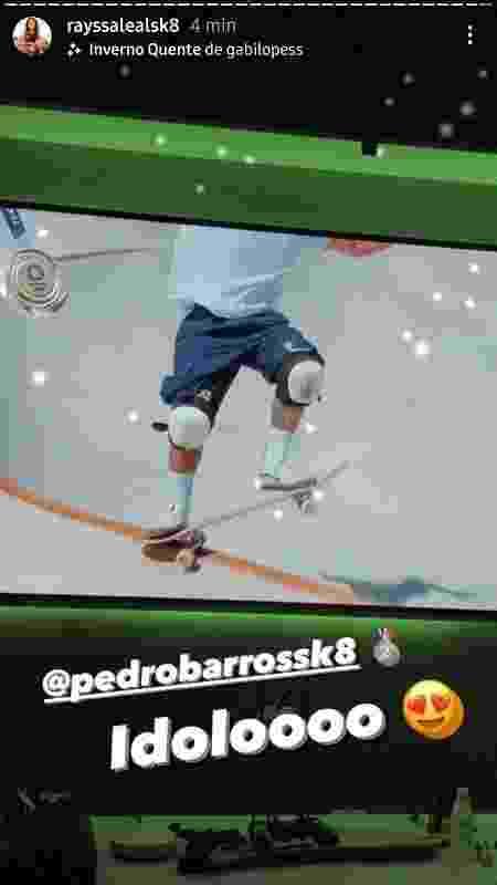 Rayssa Leal comemora prata de Pedro Barros - Reprodução/Instagram - Reprodução/Instagram