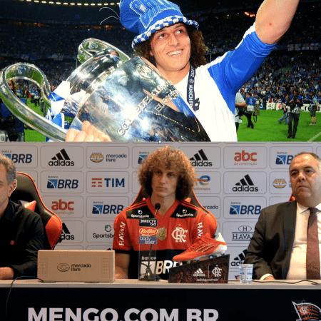 David Luiz campeão europeu em 2012 e no reconstruído Flamengo nove anos depois - Reprodução