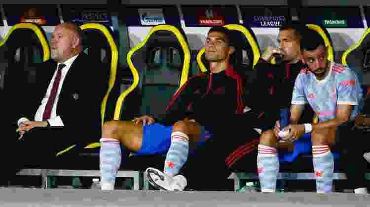 Cristiano Ronaldo terminou a partida do United contra o Young Boys no banco de reservas - Arnd Wiegmann/Reuters - Arnd Wiegmann/Reuters