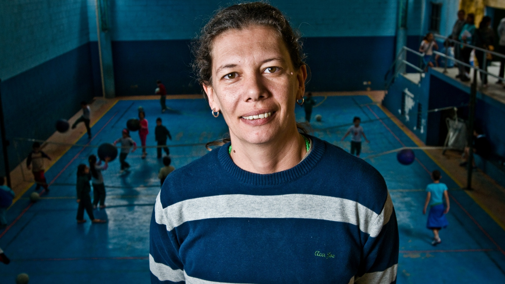 Ana Moser visita projeto social em Heliópolis em 2010