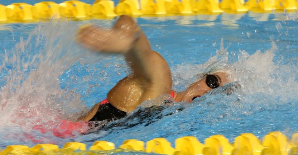Manuella Lyrio não nadou no mesmo grupo de Larissa Martins na classificatória dos 200m livres
