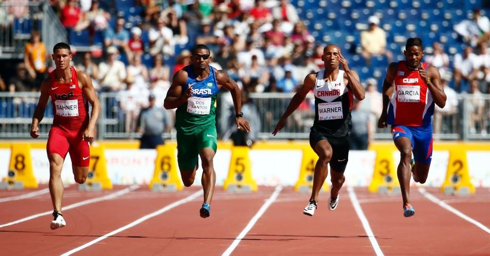 Brasileiro Felipe Dos Santos participa da etapa dos 100m do declato