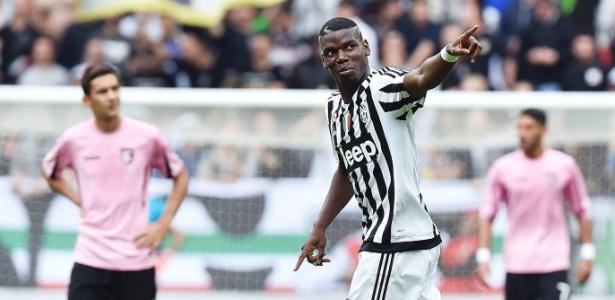 Pogba comemora em jogo da Juventus pelo Italiano; francês precisa definir seu futuro - Andrea Di Marco/Ansa