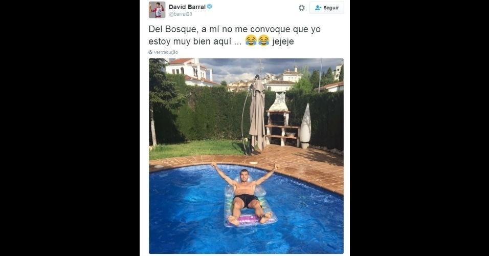 """Barral mandou recado para Del Bosque: """"Não me convoque que estou muito bem aqui"""""""