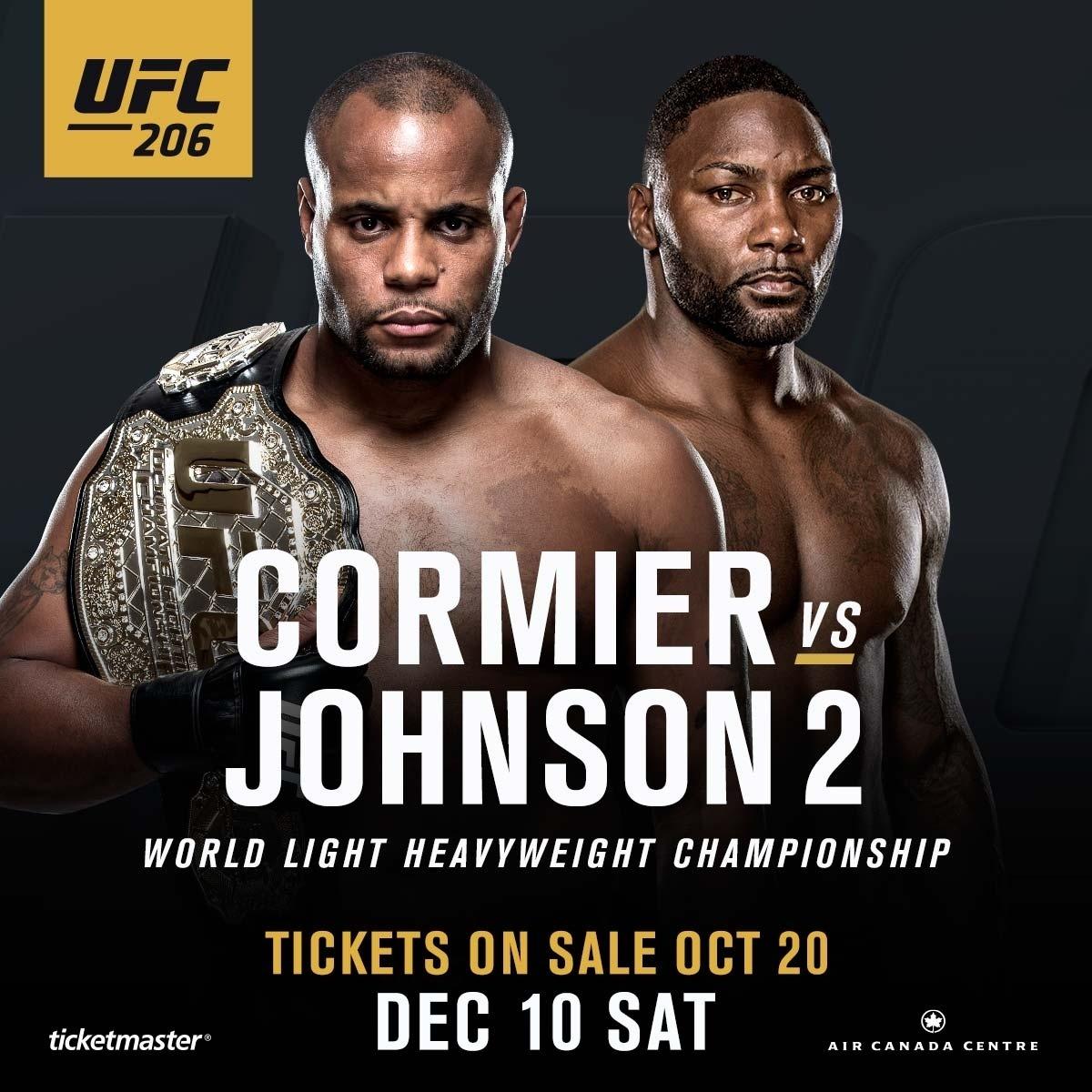 Pôster oficial do UFC 206