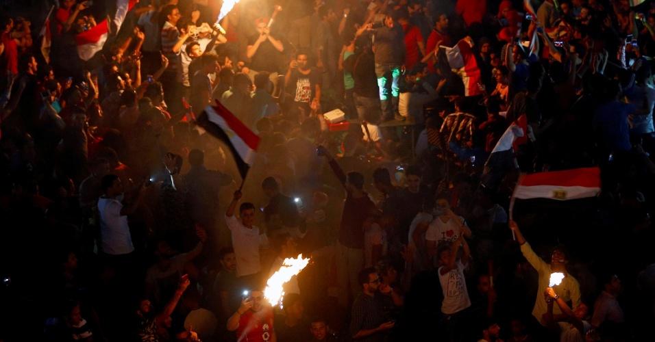 Torcedores saem às ruas para comemorar a classificação do Egito para a Copa