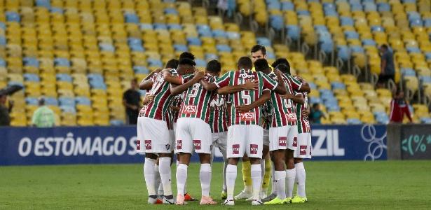 Grupo do Fluminense se reúne antes de jogo contra o Ceará; time tem semana decisiva - Lucas Merçon/Fluminense
