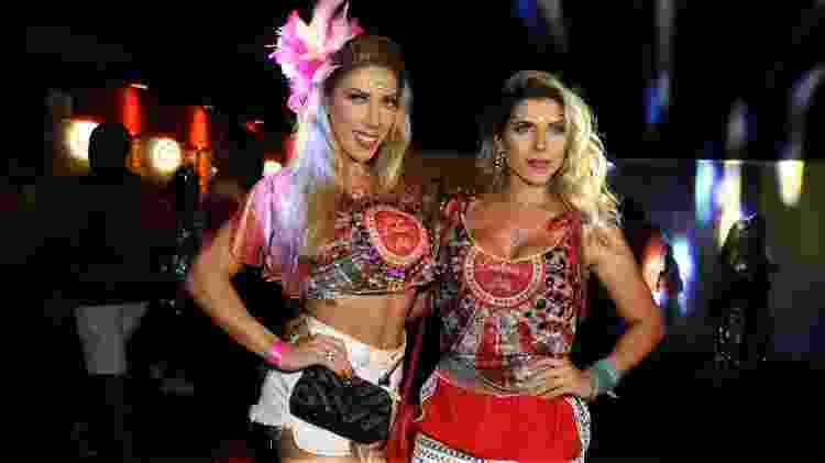 Tati e Ana Paula Minerato no Camarote Bar Brahma no Carnaval SP 2019 - Claudio Augusto/Brazil News - Claudio Augusto/Brazil News