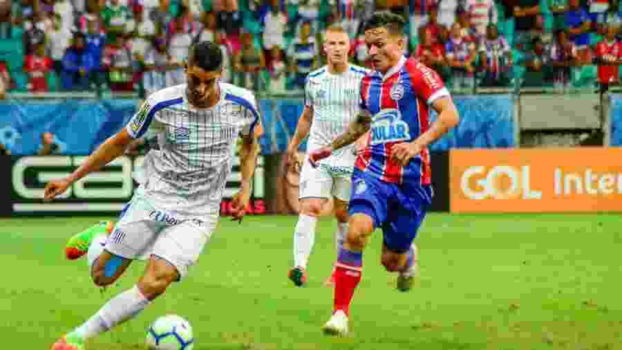 Bahia levou a melhor no primeiro turno e venceu o Avaí por 1 a 0, na Fonte Nova - Jhony Pinho/AGIF