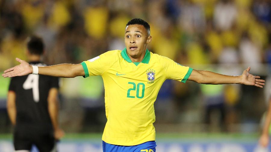 Lázaro fez o gol da virada do Brasil contra o México na decisão do Mundial sub-17 - REUTERS/Sergio Moraes