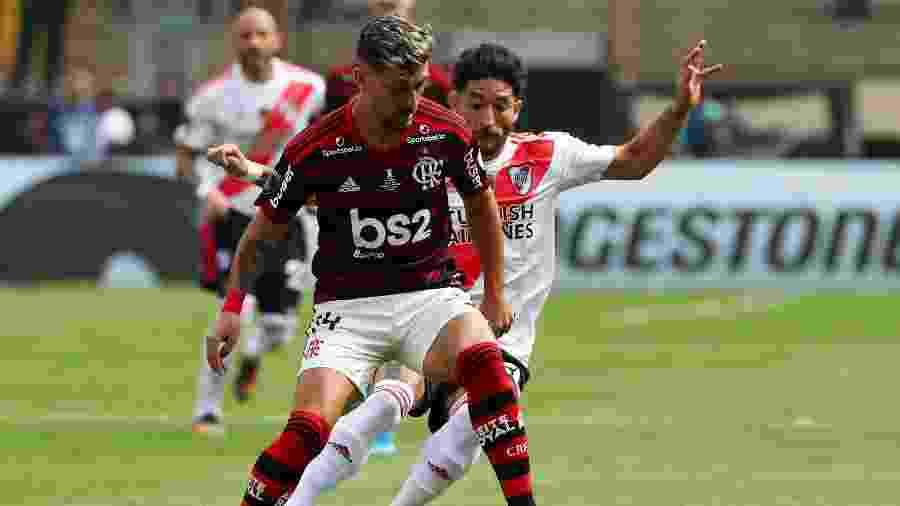 Flamengo bateu o River Plate de virada na final da Libertadores - REUTERS/Pilar Olivares