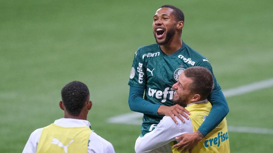 Wesley celebra gol marcado pelo Palmeiras contra o Atlético-MG - Marcello Zambrana/AGIF