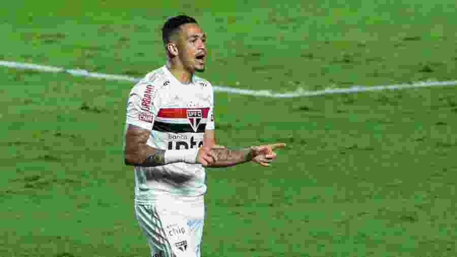 Luciano comemora gol marcado pelo São Paulo contra o Flamengo, em jogo da Copa do Brasil 2020 - Marcello Zambrana/AGIF