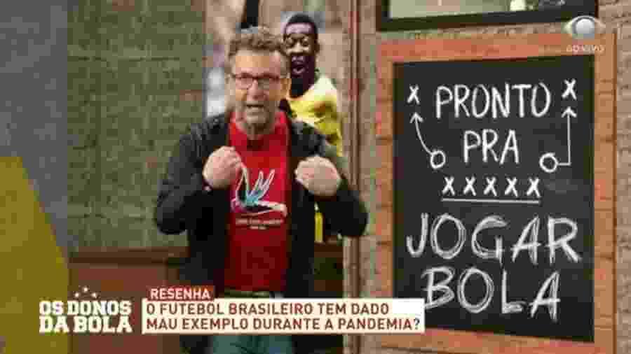 Neto questiona continuidade do futebol após surtos de covid nos clubes - Reprodução/Band