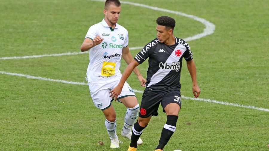 Marquinhos Gabriel, do Vasco, em partida contra a Caldense válida pela primeira fase da Copa do Brasil 2021 - ESTADÃO CONTEÚDO
