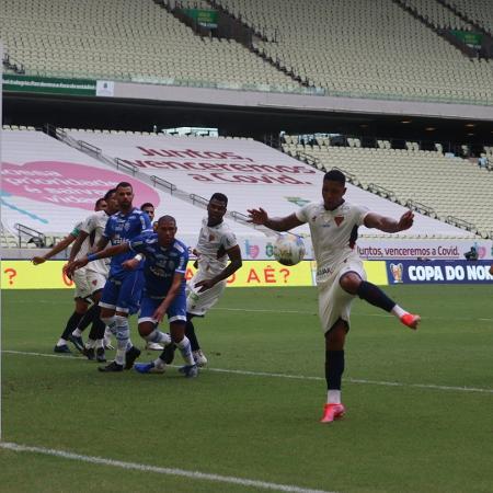 David aproveitou sobra de bola e marcou para o Fortaleza - Leonardo Moreira / Fortaleza EC