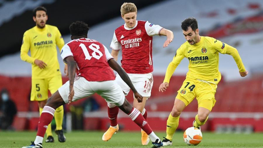 Arsenal x Villarreal, pela semifinal da Liga Europa - Getty Images