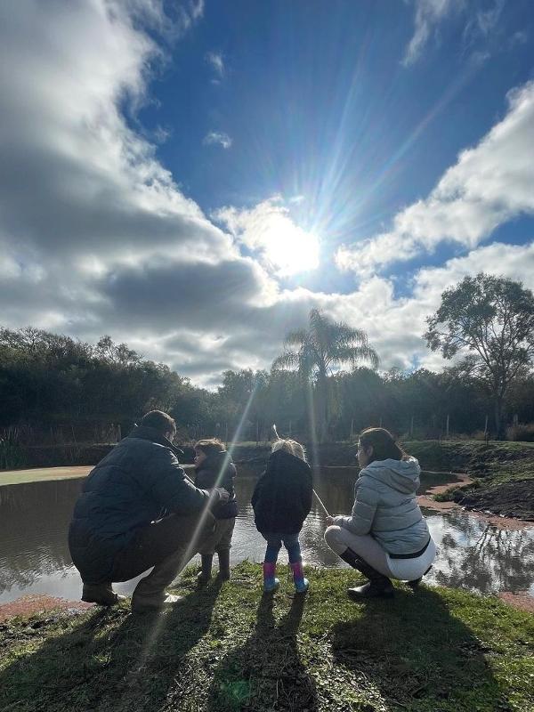 Alisson curte férias com a família no Rio Grande do Sul