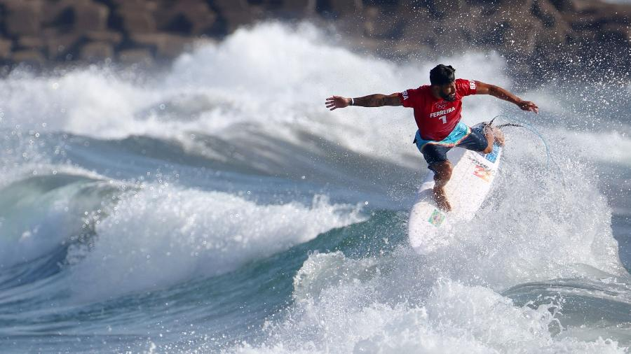 Ítalo Ferreira vence a primeira bateria da história do surfe nos Jogos Olímpicos - REUTERS/Lisi Niesner