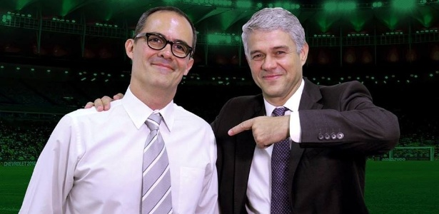 Presidente do Flu, Peter Siemsen aponta para o candidato Pedro Abad