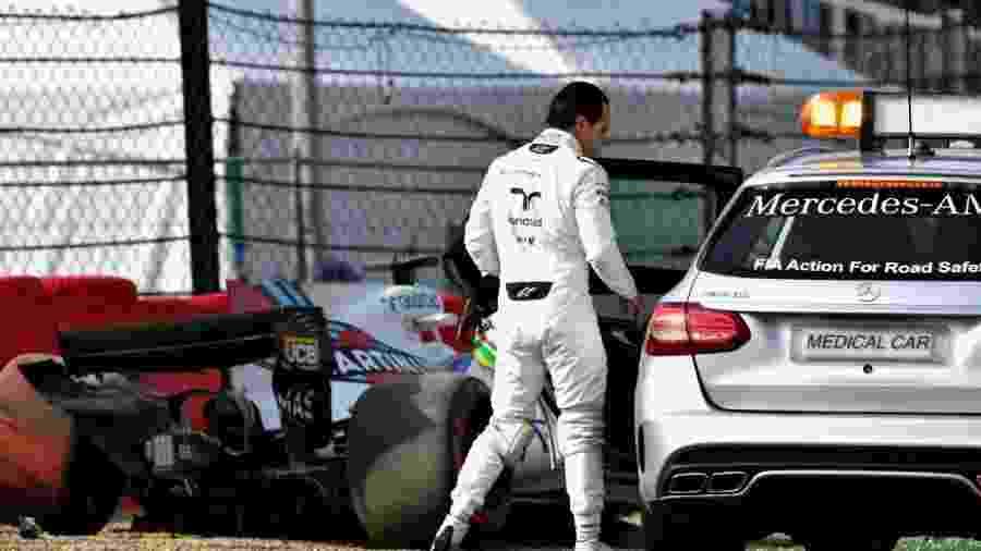 Felipe Massa bateu na primeira sessão de treinos livres para o GP da Bélgica - Dan Mullan/Getty Images
