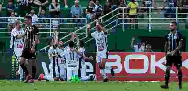 Bragantino festa gol Campeonato Paulista - Ale Cabral/AGIF - Ale Cabral/AGIF