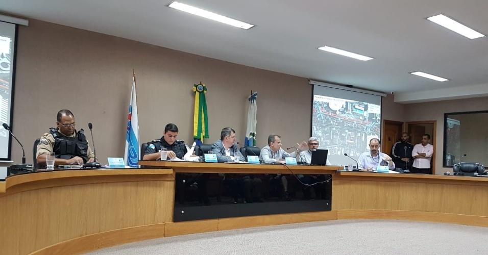 Representantes da PM, Guarda Municipal, Flamengo, Ferj e Prefeitura falam sobre a segurança para a partida entre Flamengo e Corinthians