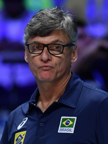 Renan Dal Zotto, técnico da seleção brasileira masculina de vôlei - MARCO BERTORELLO / AFP
